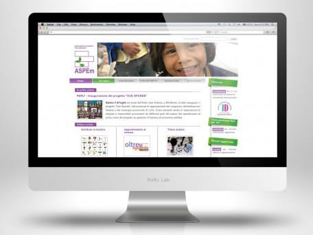 Aspem sito web desktop