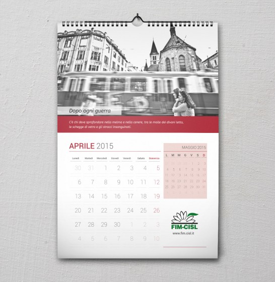 Fim Cisl Calendario 2015 aprile