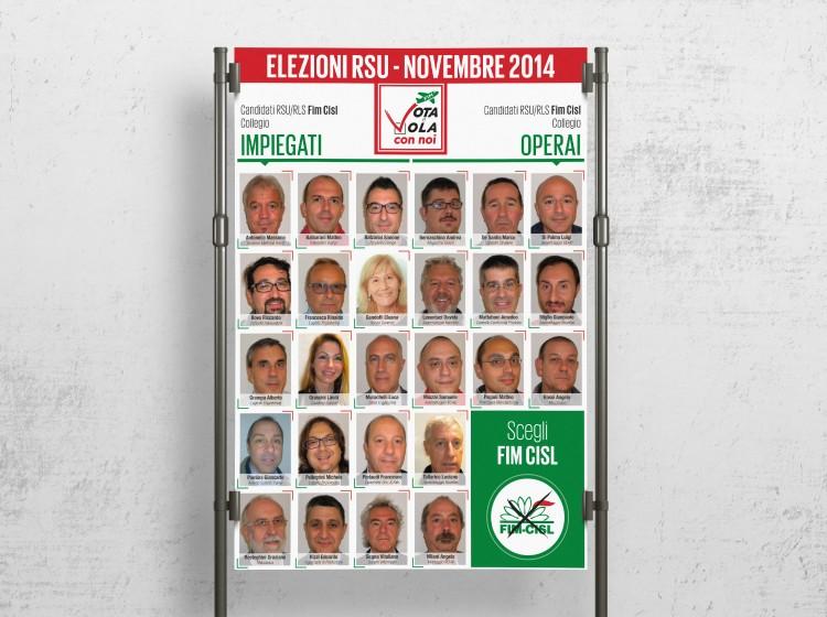 grafica poster elezioni RSU FIM CISL