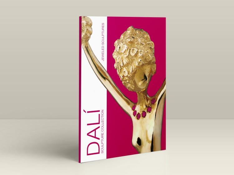 grafica copertina catalogo opere Salvador Dali