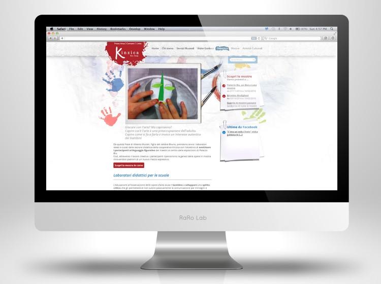 sviluppo sito internet responsive kinzica mostre