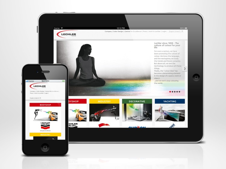 templating grafica sito internet responsive Lechler