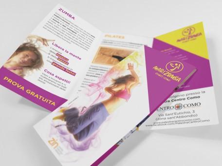 grafica e stampa brochure pieghevole Mari Zumba