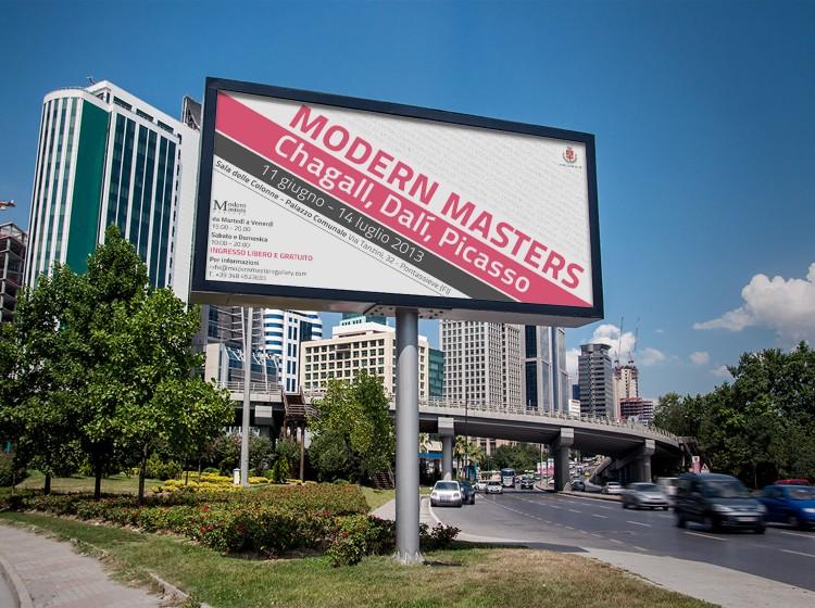 grafica manifesto affissione Modern Masters