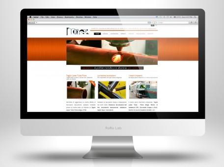 grafica home page sito web momec