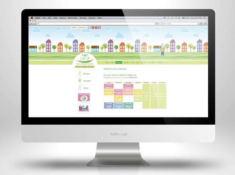 sito web Mygia calendario attività