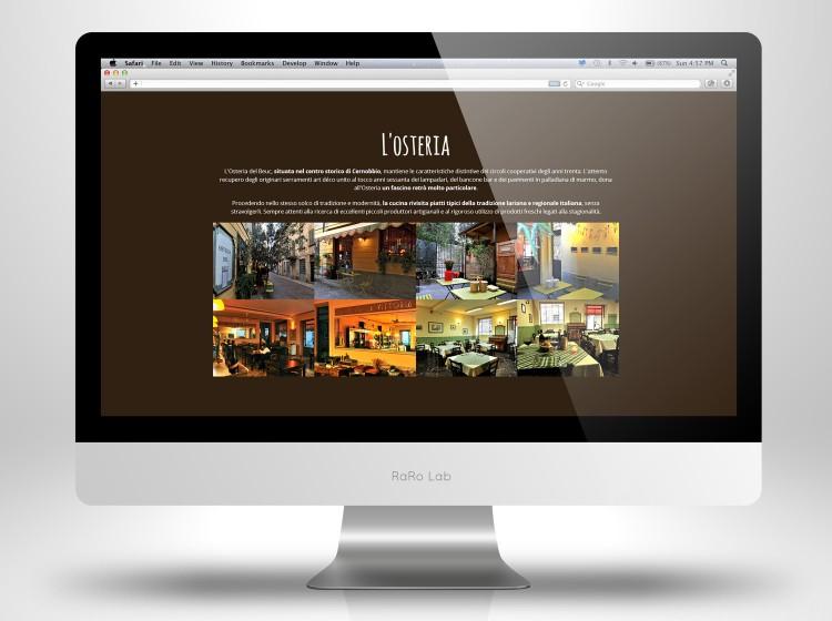 Sito web ristorante Osteria del Beuc Como