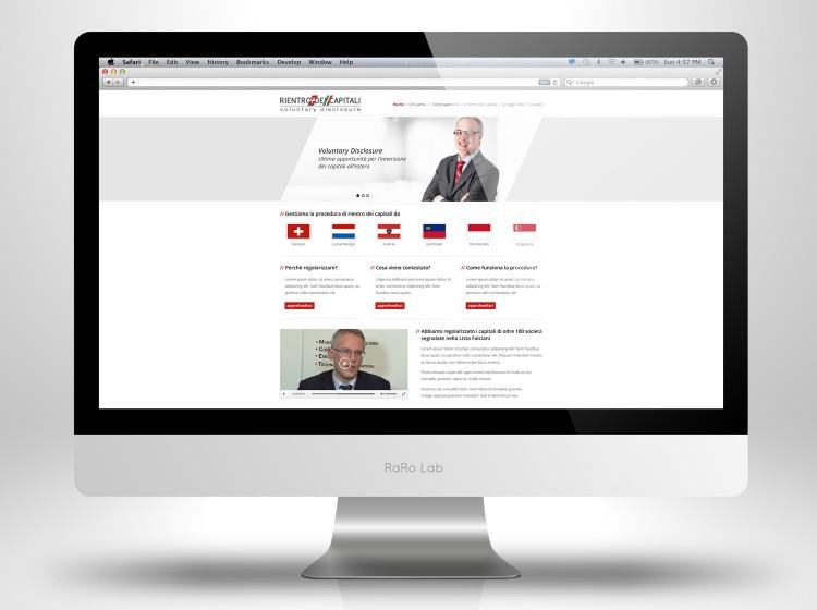 Sviluppo sito web Rientro dei Capitali
