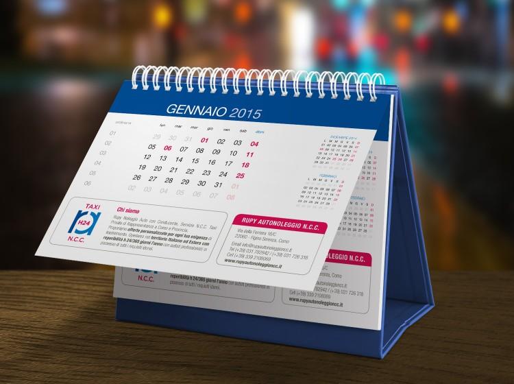 grafica e stampa calendari promozionali Rupy NCC