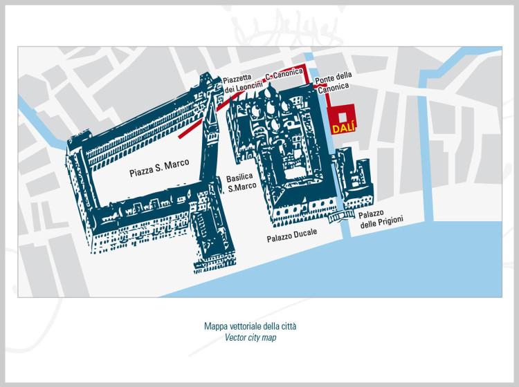 Dali Universe Venezia Mappa della città