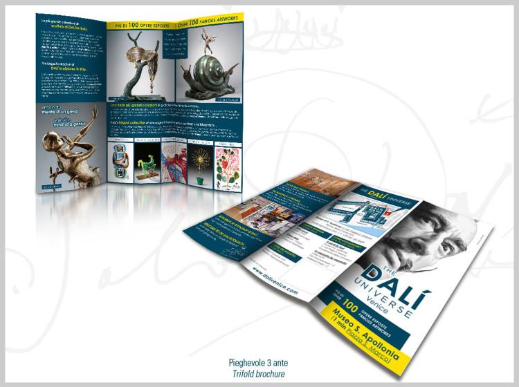 Dali Universe Venezia brochure pieghevole 3 ante