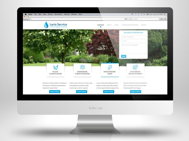 Home Page sito internet larioservice pulizie