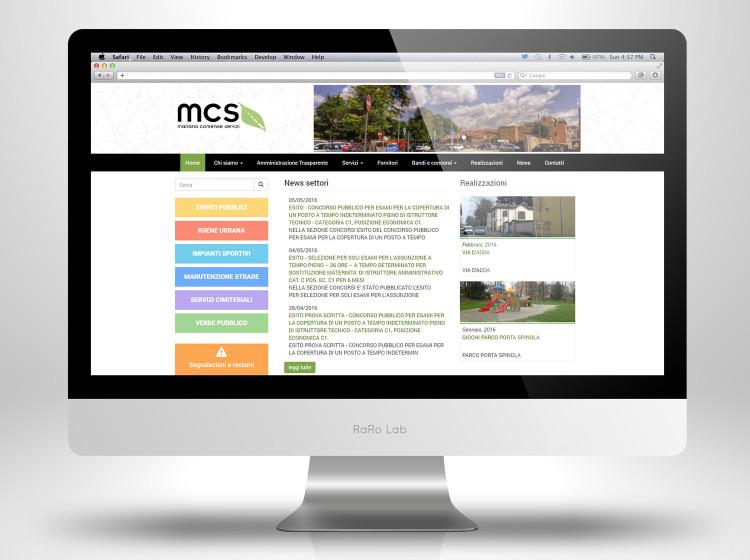 portale web mariano comense servizi