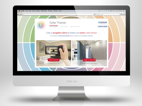 grafica web app lechler color trainer