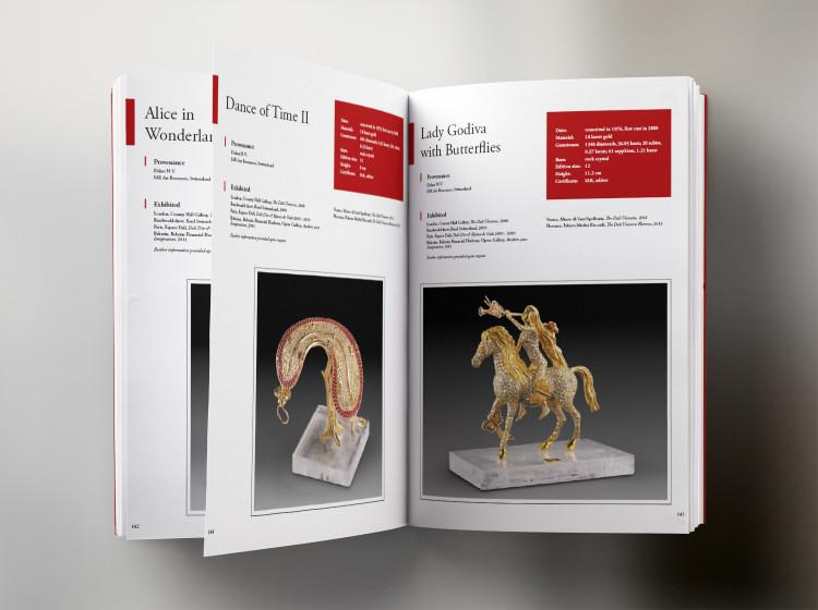 grafica catalogo opere scultoree Dali