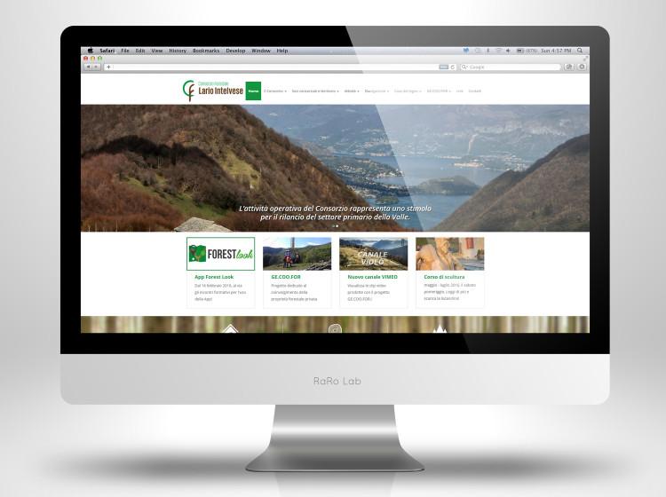 home page sito internet consorzio forestale larioinltelvese
