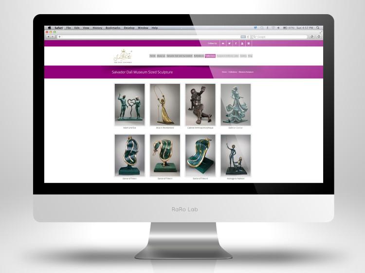 Realizzazione sito internet opere Dali