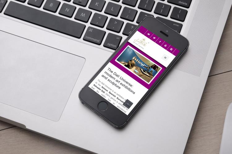 sito web mobile dali universe
