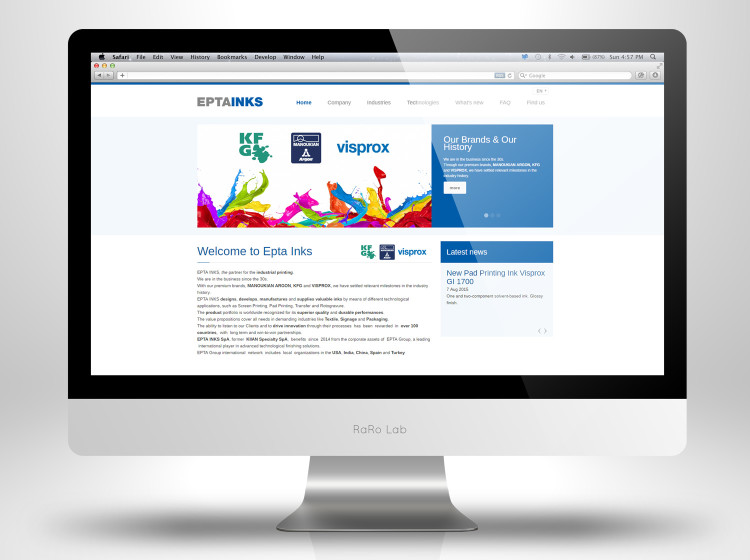 home page sito internet epta inks