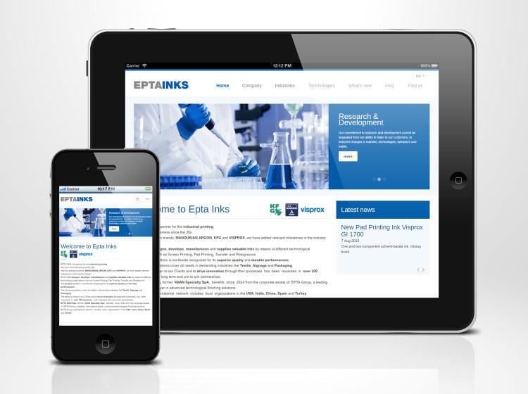 sviluppo sito web responsive epta inks