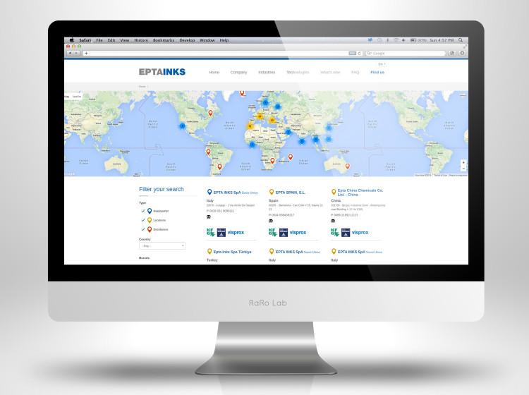 sviluppo sito aziendale epta inks