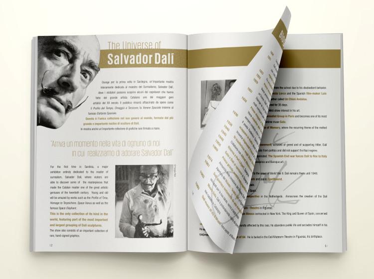 Grafica rivista opere arte Salvador Dali, Fortevillage