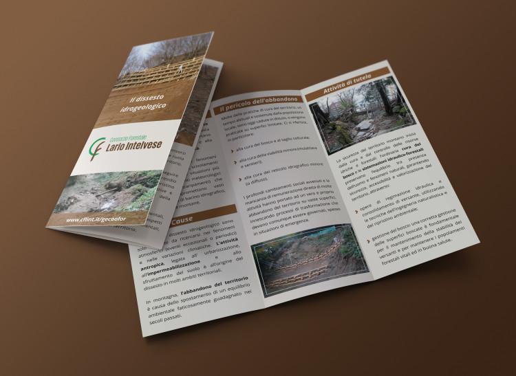 grafica stampa brochure consorzio forestale intelvese