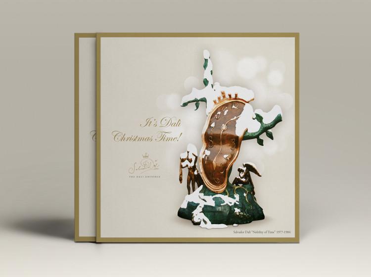 cartoline di Natale personalizzate Salvador Dali