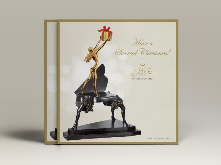 cartoline di Natale personalizzate opere di Dali