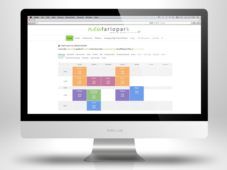 Calendario Per Sito Web.Sito Web Wordpress Como Palestra New Lario Park Raro Lab
