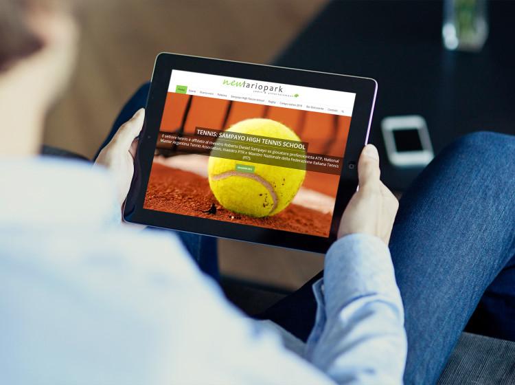 sito internet responsive new lario park