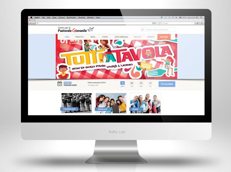 sviluppo sito internet wordpress pastorale giovanile
